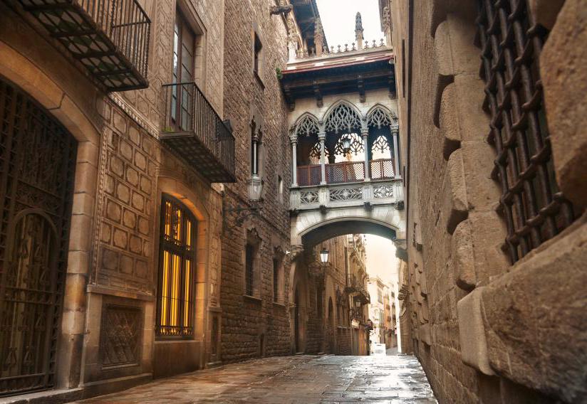 gotische wijk barrio gotic barcelona